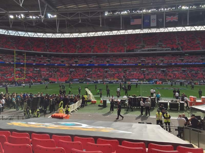 Vista sentada para Wembley Stadium Secção 101 Fila 17 Lugar 53