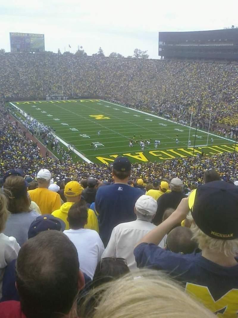 Vista sentada para Michigan Stadium Secção 38