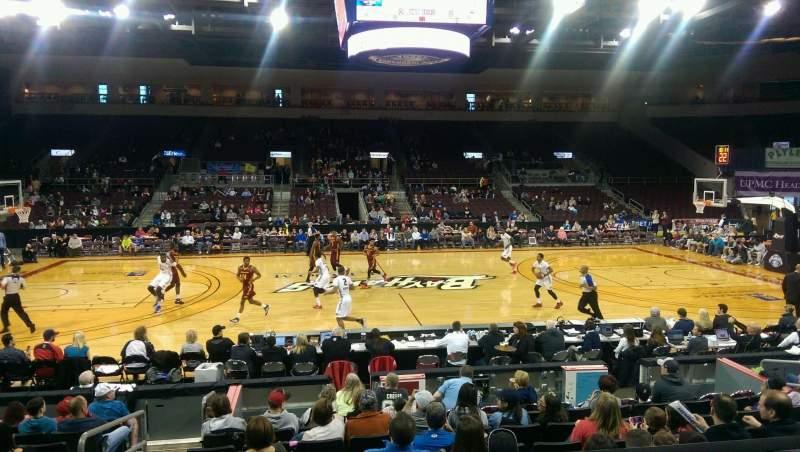 Vista sentada para Erie Insurance Arena Secção 204 Fila L Lugar 11