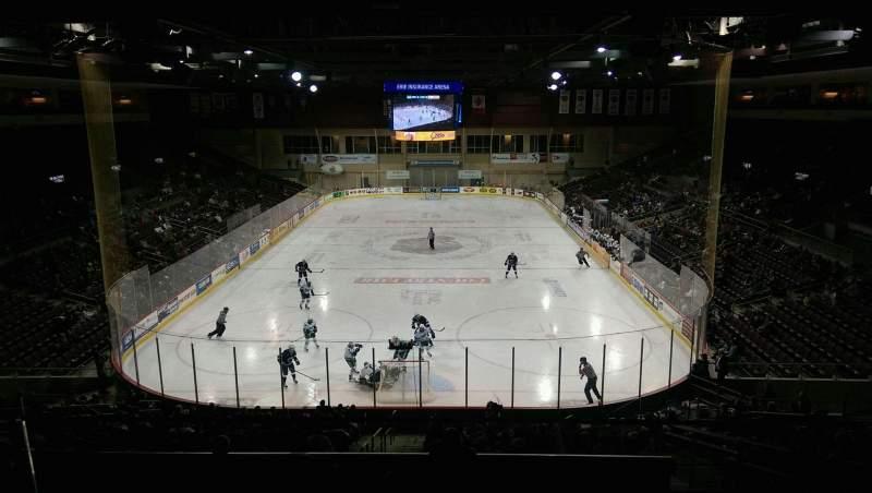 Vista sentada para Erie Insurance Arena Secção STE311 Fila A Lugar 4