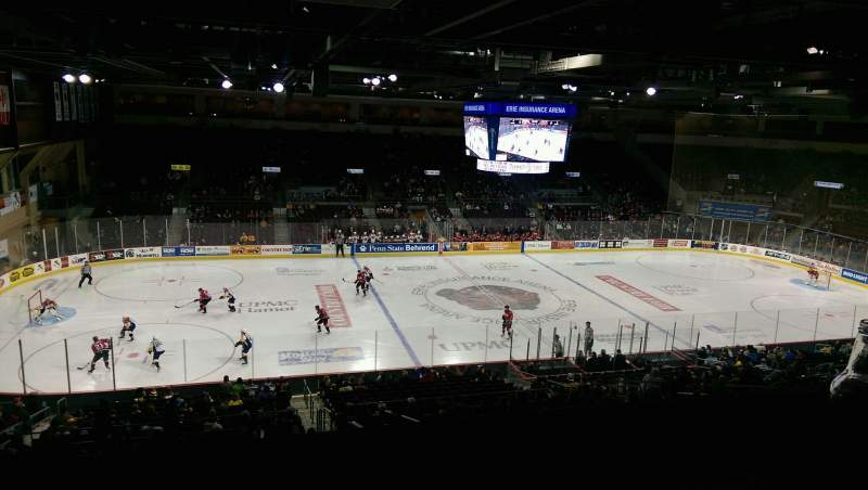 Vista sentada para Erie Insurance Arena Secção Suite 302 Fila SA Lugar 7