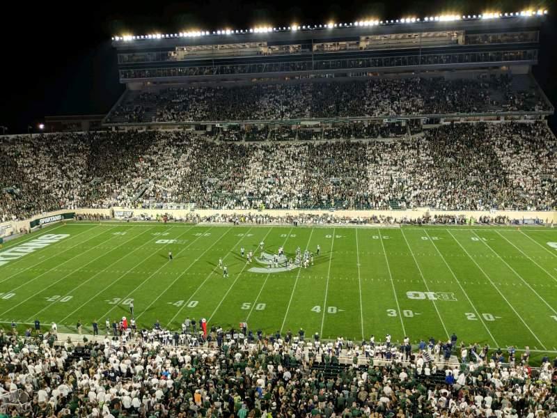 Vista sentada para Spartan Stadium Secção 108 Fila 2 Lugar 12