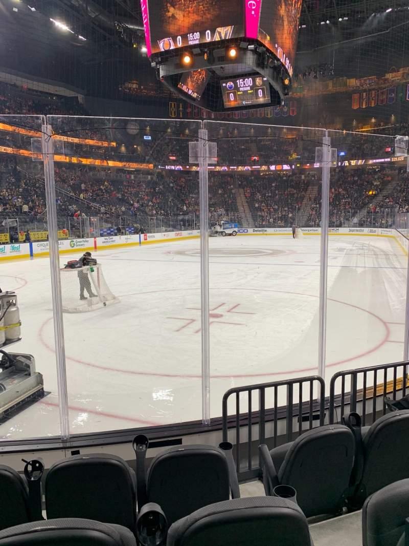 Vista sentada para T-Mobile Arena Secção 12 Fila D
