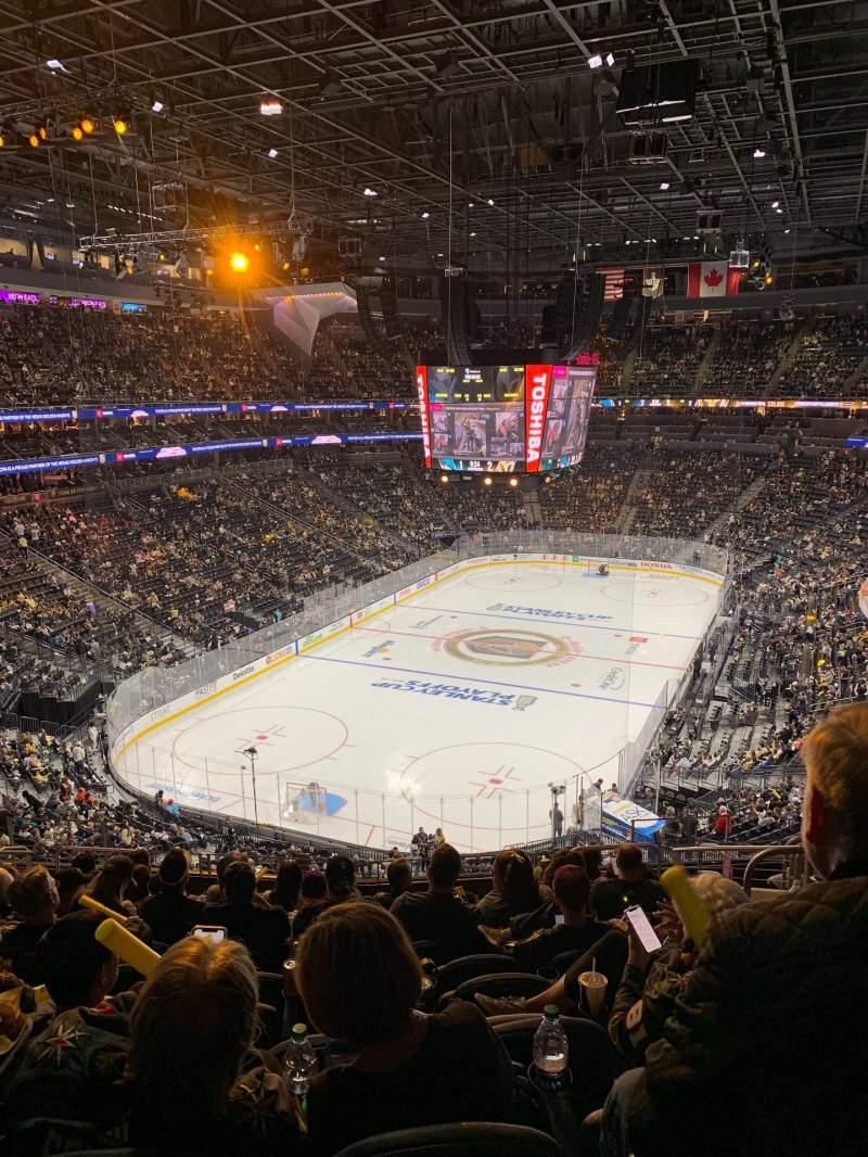 Vista sentada para T-Mobile Arena Secção 103 Fila M Lugar 10