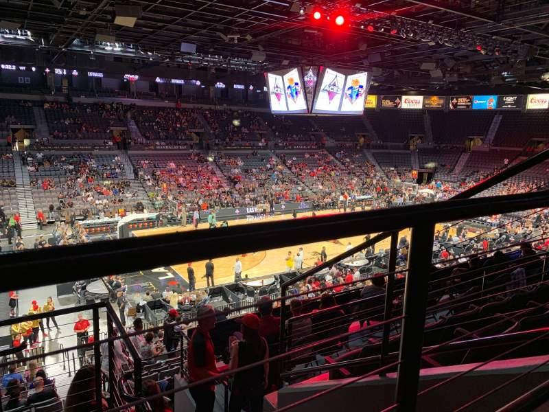 Vista sentada para Michelob Ultra Arena Secção 205 Fila E Lugar 2