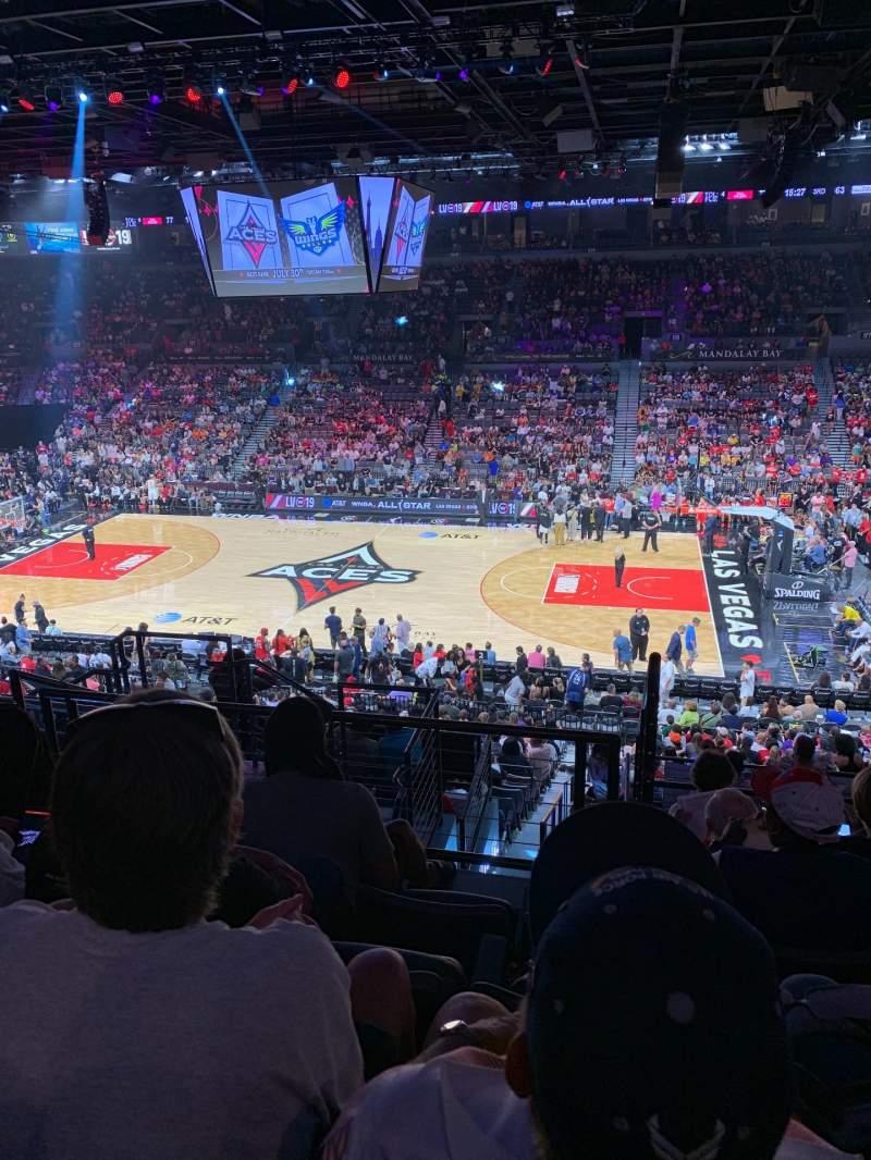 Vista sentada para Michelob Ultra Arena Secção 208 Fila H Lugar 6
