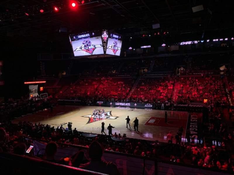 Vista sentada para Michelob Ultra Arena Secção 208 Fila A Lugar 6