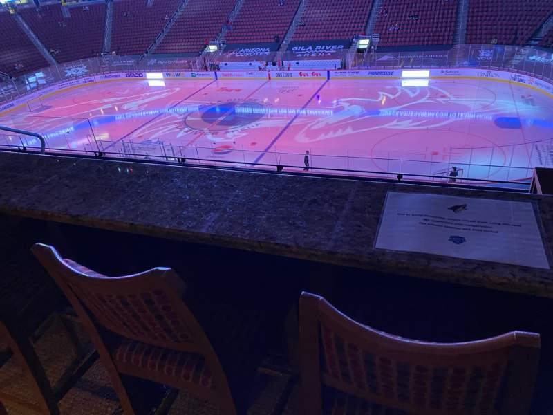 Vista sentada para Gila River Arena Secção 1104