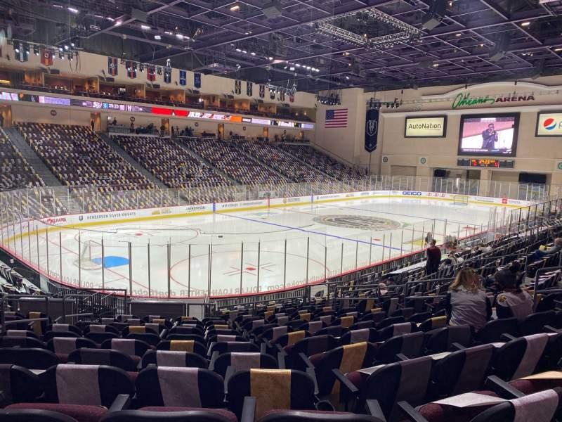 Vista sentada para Orleans Arena Secção 107 Fila M Lugar 10
