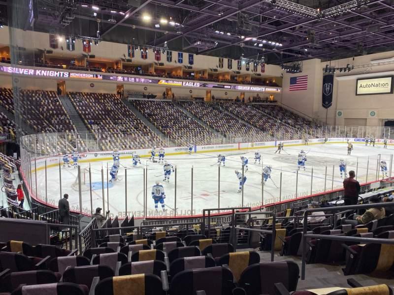 Vista sentada para Orleans Arena Secção 107 Fila H Lugar 3