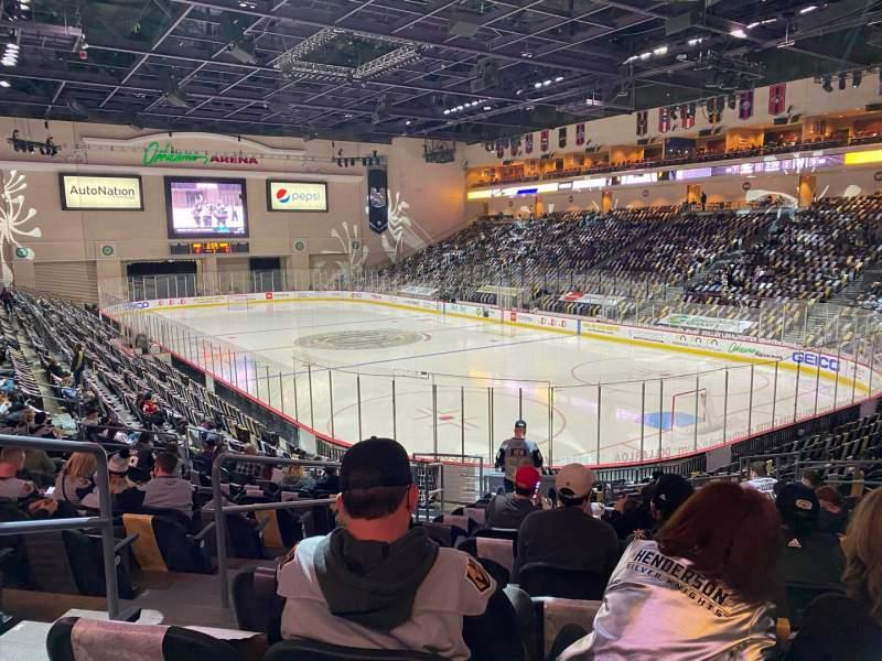 Vista sentada para Orleans Arena Secção 112 Fila N Lugar 14