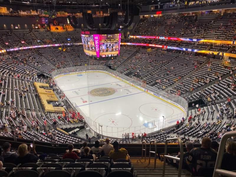 Vista sentada para T-Mobile Arena Secção 211 Fila J Lugar 17