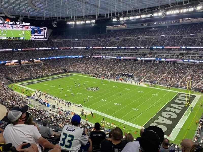 Vista sentada para Allegiant Stadium Secção 307 Fila 6 Lugar 2