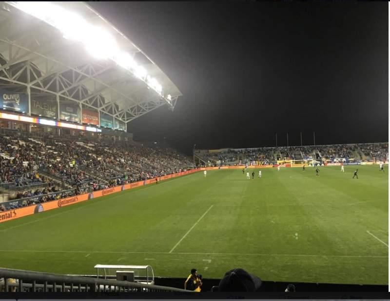 Vista sentada para Talen Energy Stadium Secção 118 Fila K