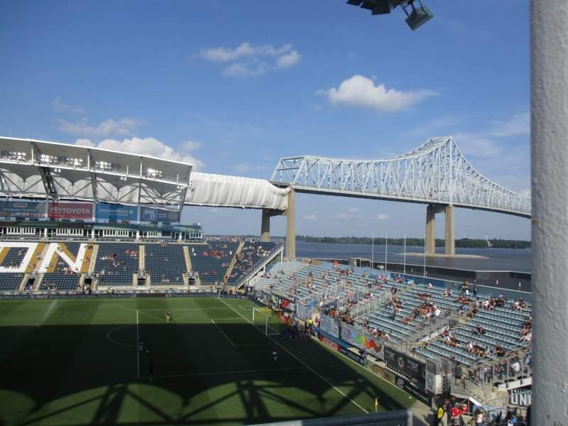 Vista sentada para Talen Energy Stadium Secção UNION ALE HOUSE DECK