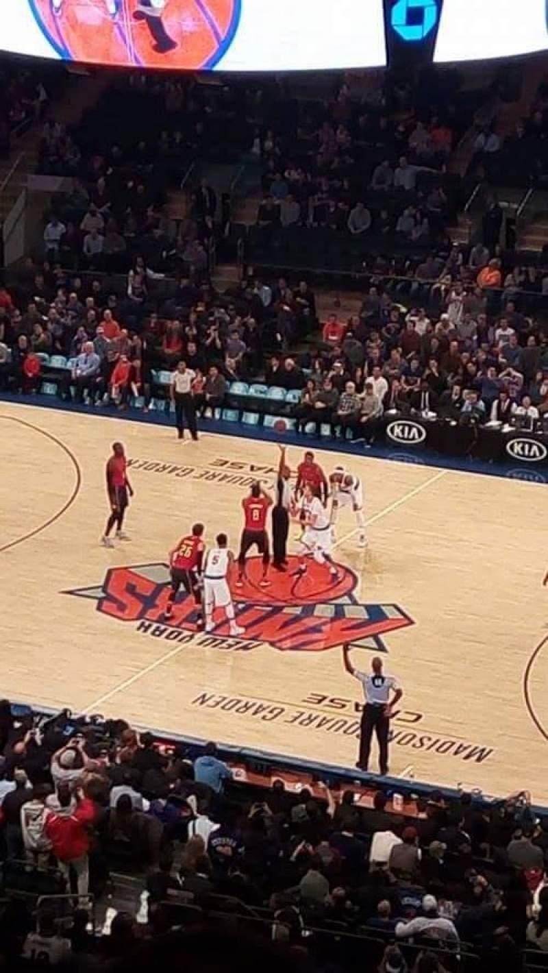Vista sentada para Madison Square Garden Secção 213 Fila 14 Lugar 12