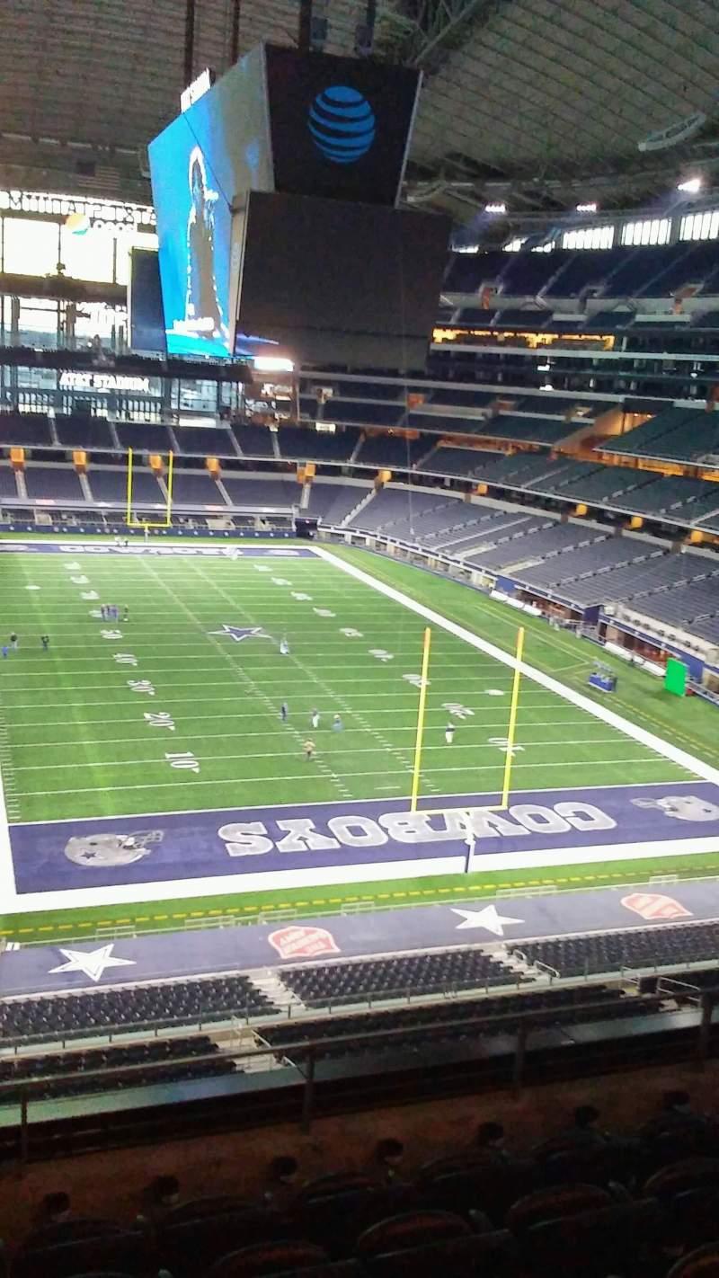 Vista sentada para AT&T Stadium Secção 350 Fila 5