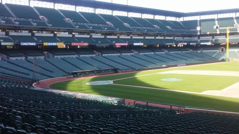 Vista sentada para Oriole Park at Camden Yards Secção 20 Fila 29 Lugar 1