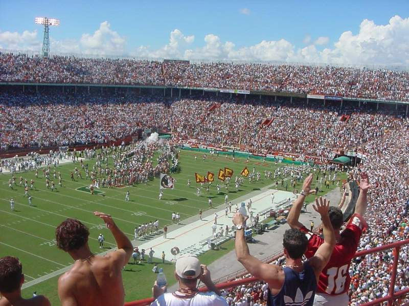 Vista sentada para Miami Orange Bowl