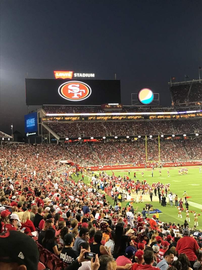 Vista sentada para Levi's Stadium Secção 131 Fila 26 Lugar 1