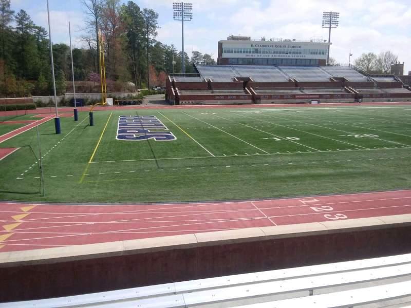 Vista sentada para Robins Stadium Secção 109 Fila F Lugar 13