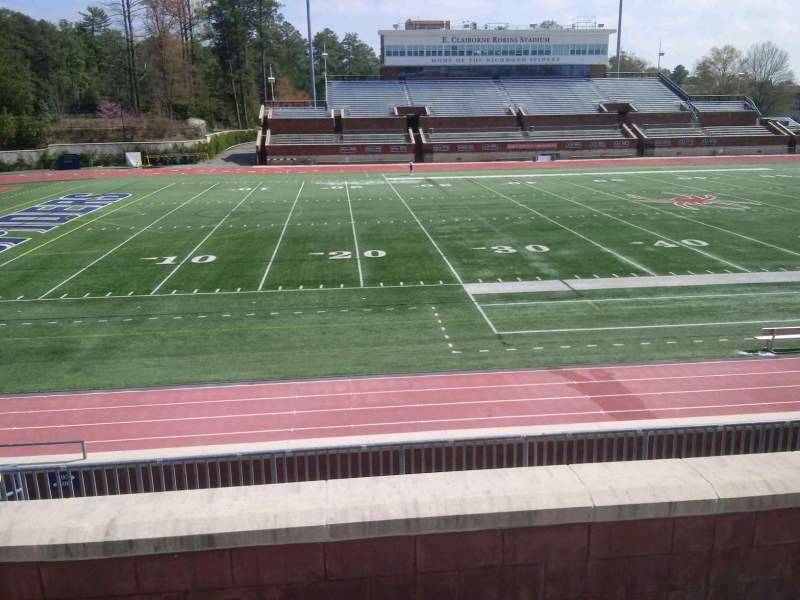 Vista sentada para Robins Stadium Secção 207 Fila D Lugar 10