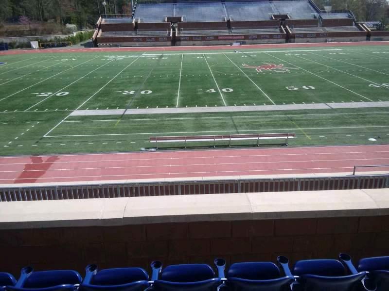 Vista sentada para Robins Stadium Secção 206 Fila D Lugar 8