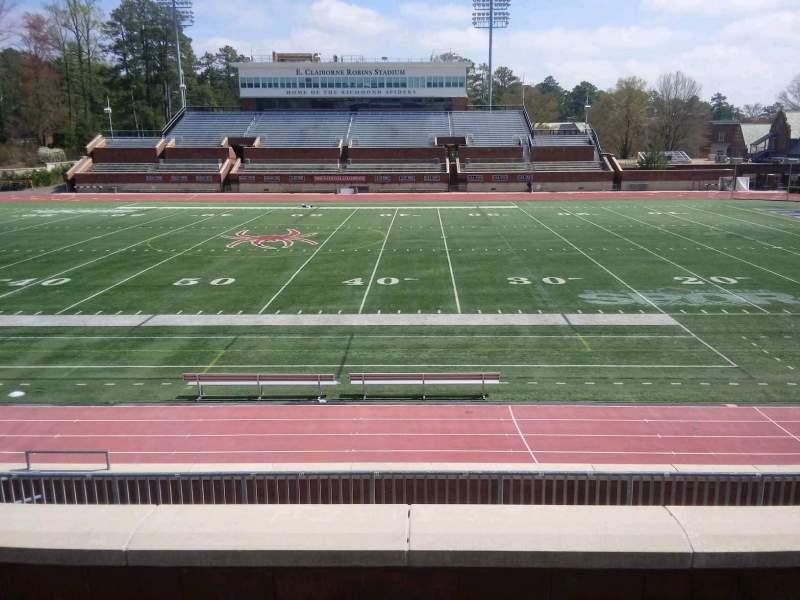 Vista sentada para Robins Stadium Secção 204 Fila D Lugar 9