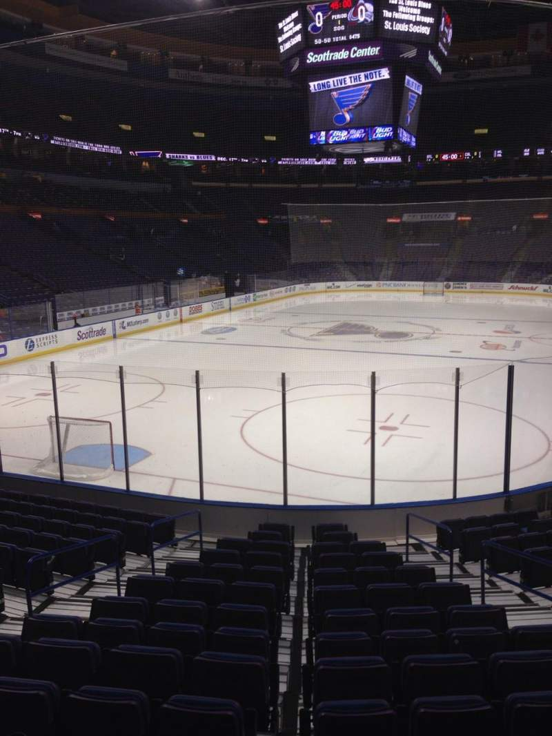 Vista sentada para Scottrade Center Secção 121 Fila P Lugar 5