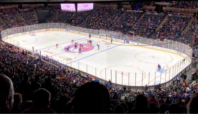 Vista sentada para Nassau Veterans Memorial Coliseum Secção 218 Fila 13 Lugar 10