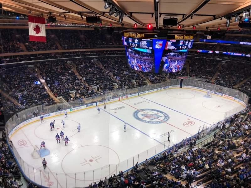 Vista sentada para Madison Square Garden Secção 310 Fila 1 Lugar 1