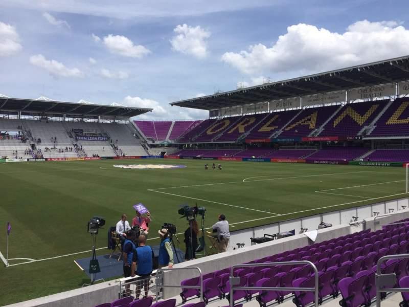 Vista sentada para Exploria Stadium Secção 7 Fila K Lugar 8