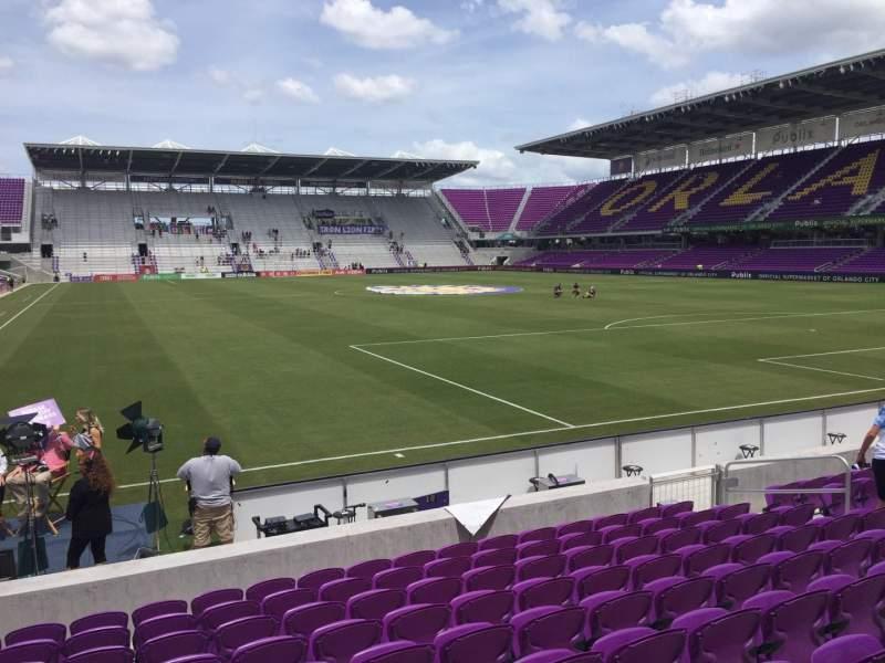 Vista sentada para Exploria Stadium Secção 6 Fila J Lugar 13