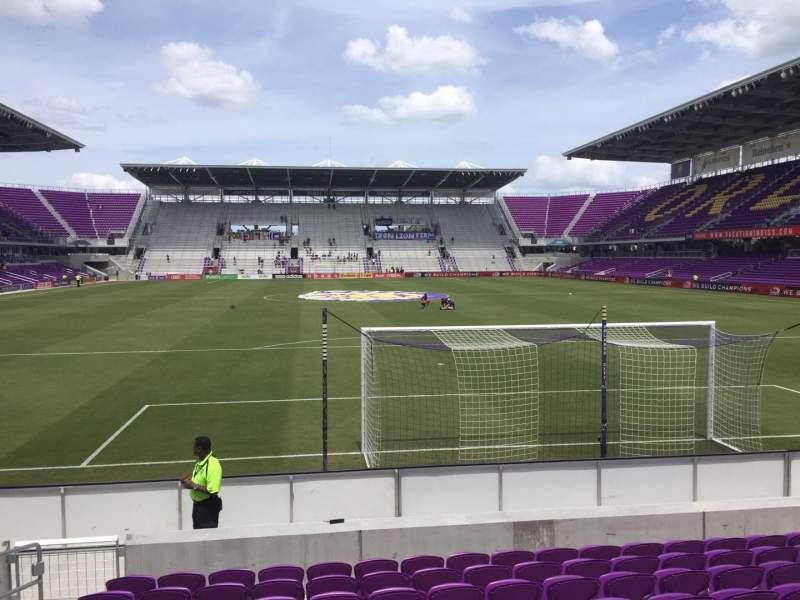 Vista sentada para Exploria Stadium Secção 4 Fila K Lugar 23