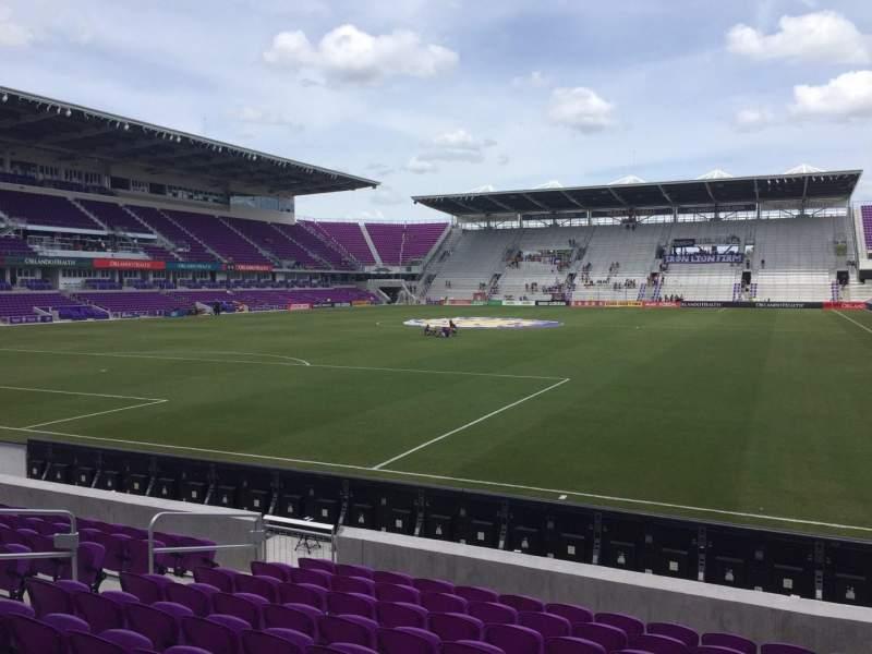 Vista sentada para Exploria Stadium Secção 2 Fila K Lugar 12