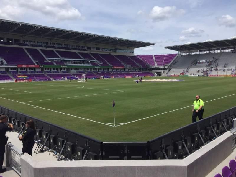 Vista sentada para Exploria Stadium Secção 1 Fila F Lugar 17