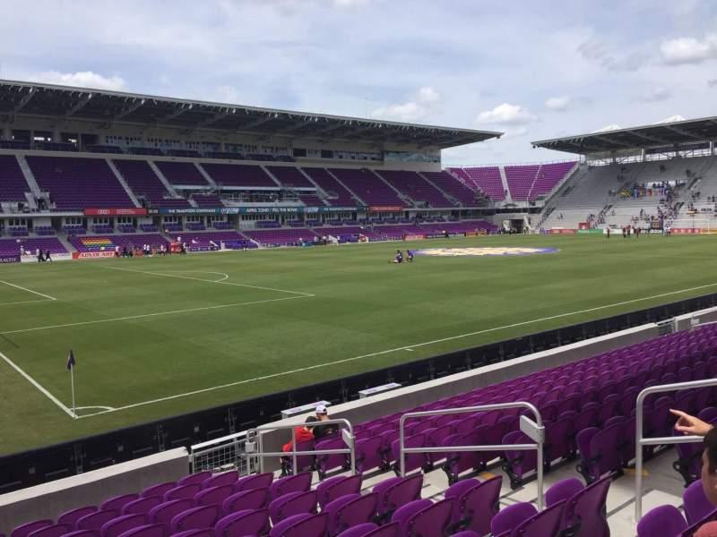 Vista sentada para Exploria Stadium Secção 1 Fila L Lugar 7