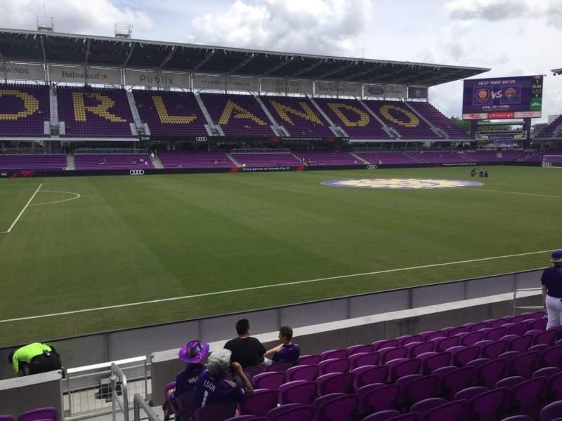 Vista sentada para Exploria Stadium Secção 19 Fila J Lugar 1