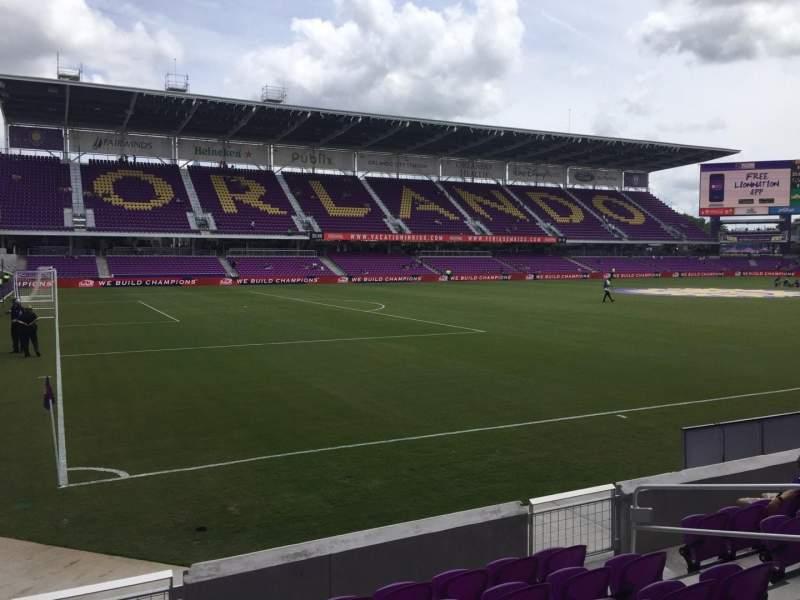 Vista sentada para Exploria Stadium Secção 20 Fila G Lugar 10