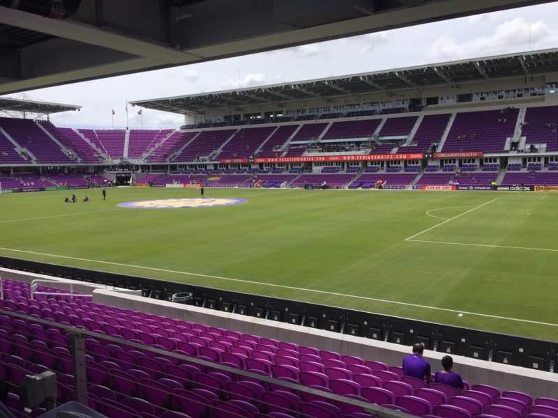 Vista sentada para Exploria Stadium Secção 31 Fila M Lugar 02