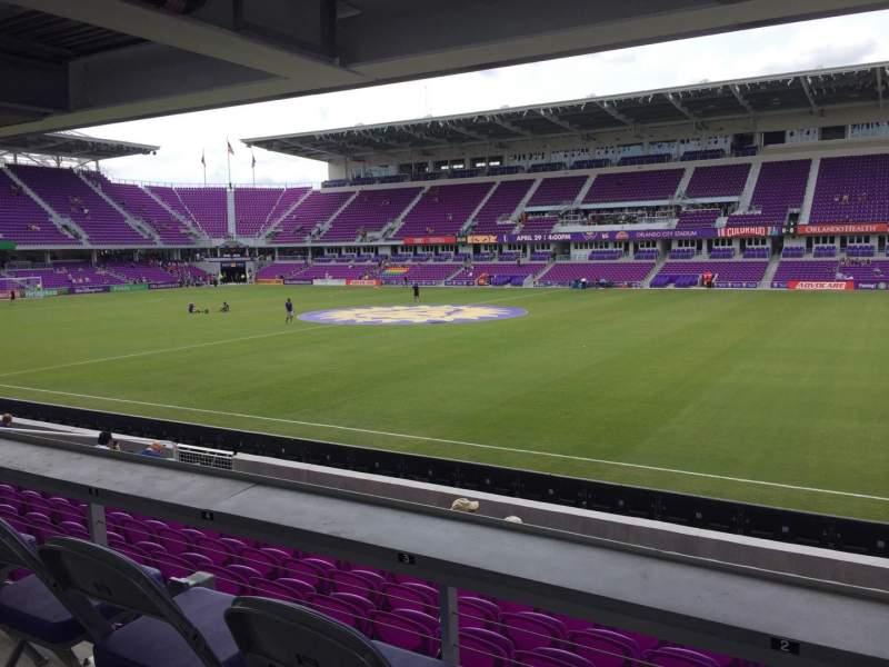 Vista sentada para Exploria Stadium Secção 32 Fila M Lugar 02