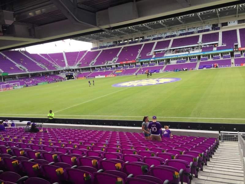 Vista sentada para Exploria Stadium Secção 33 Fila P Lugar 1