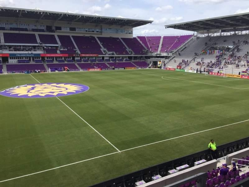 Vista sentada para Exploria Stadium Secção 135 Fila B Lugar 3