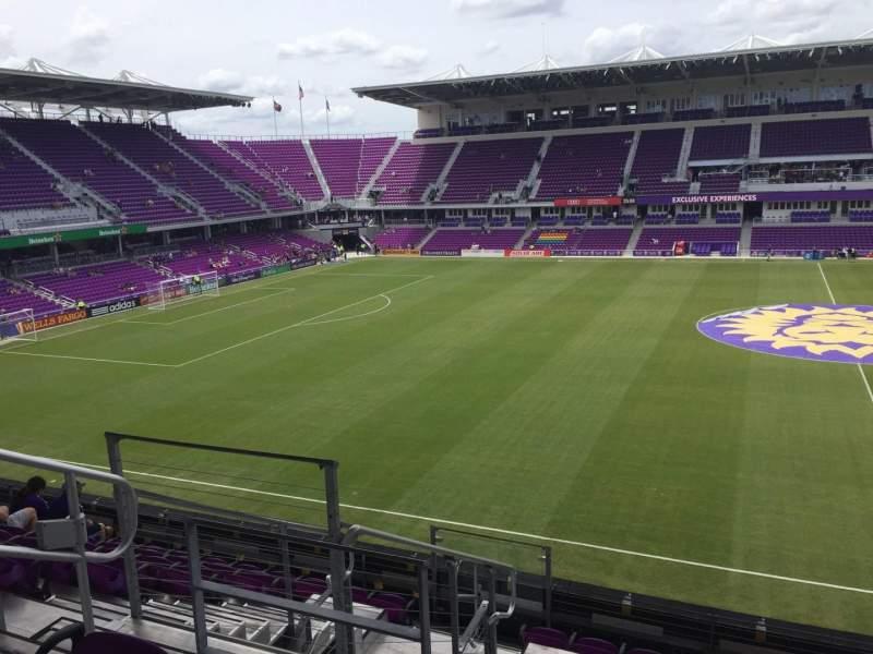 Vista sentada para Exploria Stadium Secção 135 Fila H Lugar 23