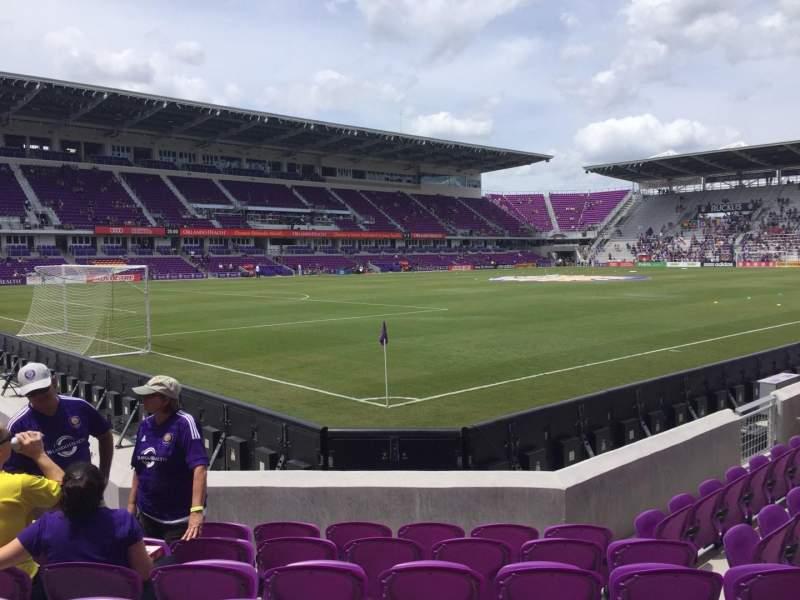 Vista sentada para Exploria Stadium Secção 1 Fila G Lugar 18