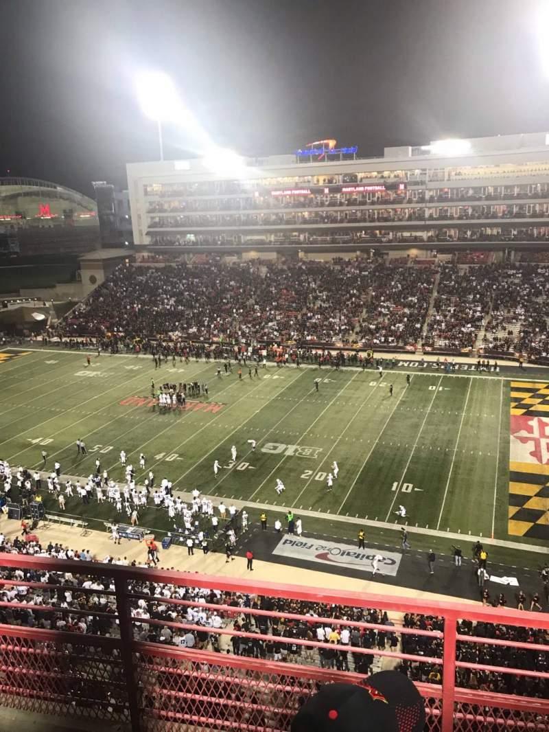 Vista sentada para Maryland Stadium Secção 310 Fila C Lugar 10