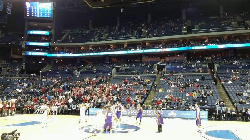 Vista sentada para Nationwide Arena Secção 114 Fila C Lugar 9