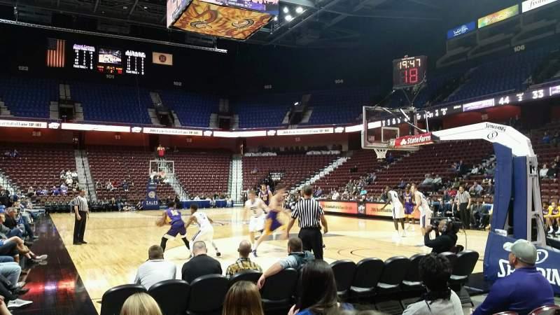Vista sentada para Mohegan Sun Arena Secção 21 Fila D Lugar 7