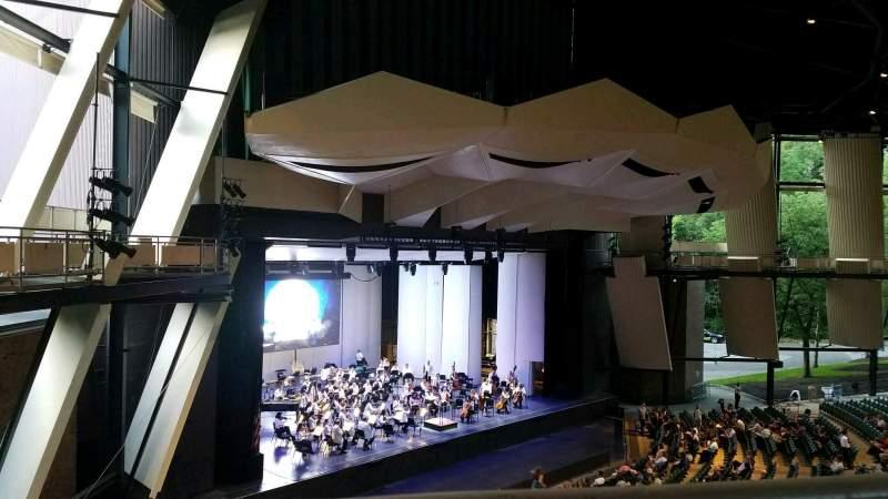 Vista sentada para Saratoga Performing Arts Center Secção 19 Fila A Lugar 14