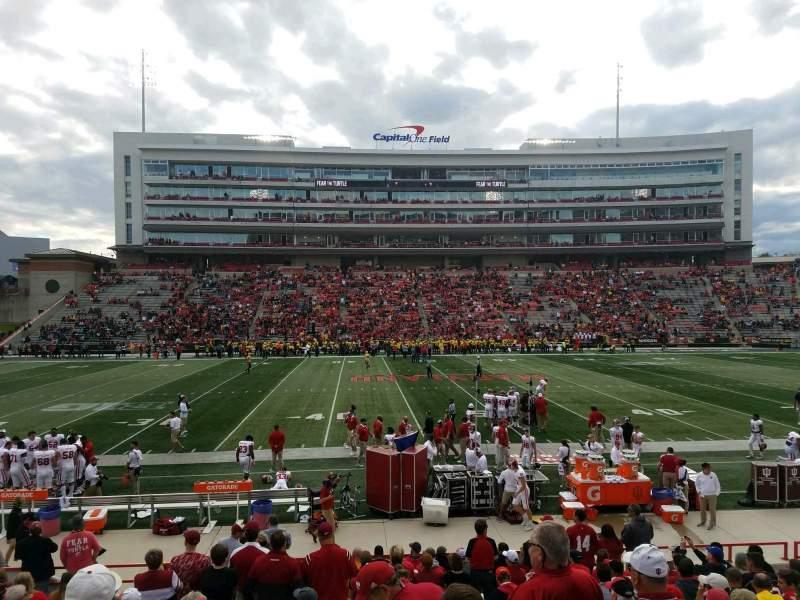 Vista sentada para Maryland Stadium Secção 5 Fila T Lugar 7